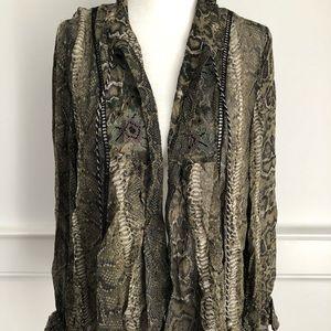 Zara sheer open blouse